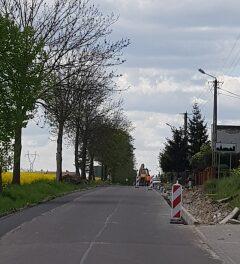 Trwa przebudowa drogi powiatowej